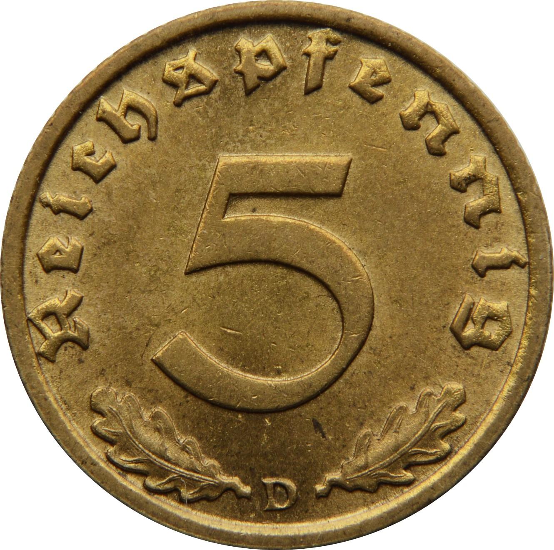 Germany 5 Reichspfennig (1936-1939)