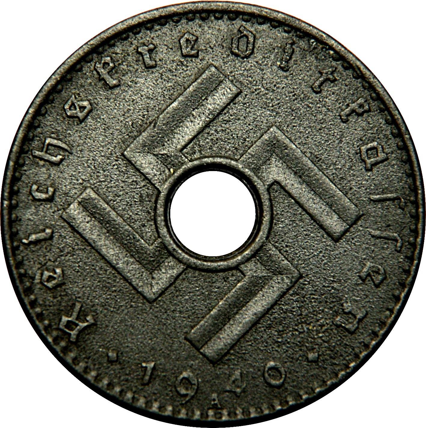Germany 5 Reichspfennig (1940-1941 Military Coinage)