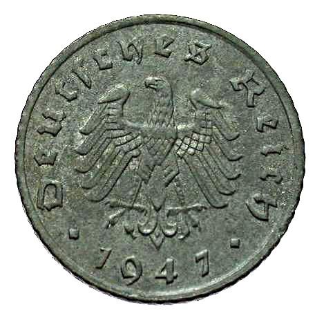 Germany 5 Reichspfennig (1947-1948 Allied Occupation)
