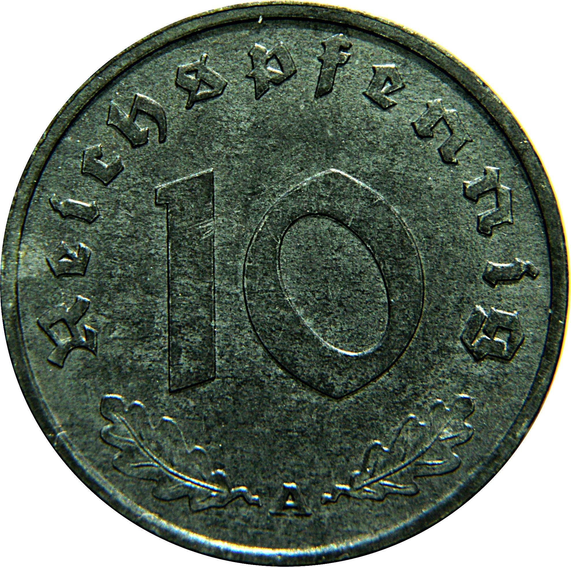 Germany 10 Reichspfennig (1940-1945)