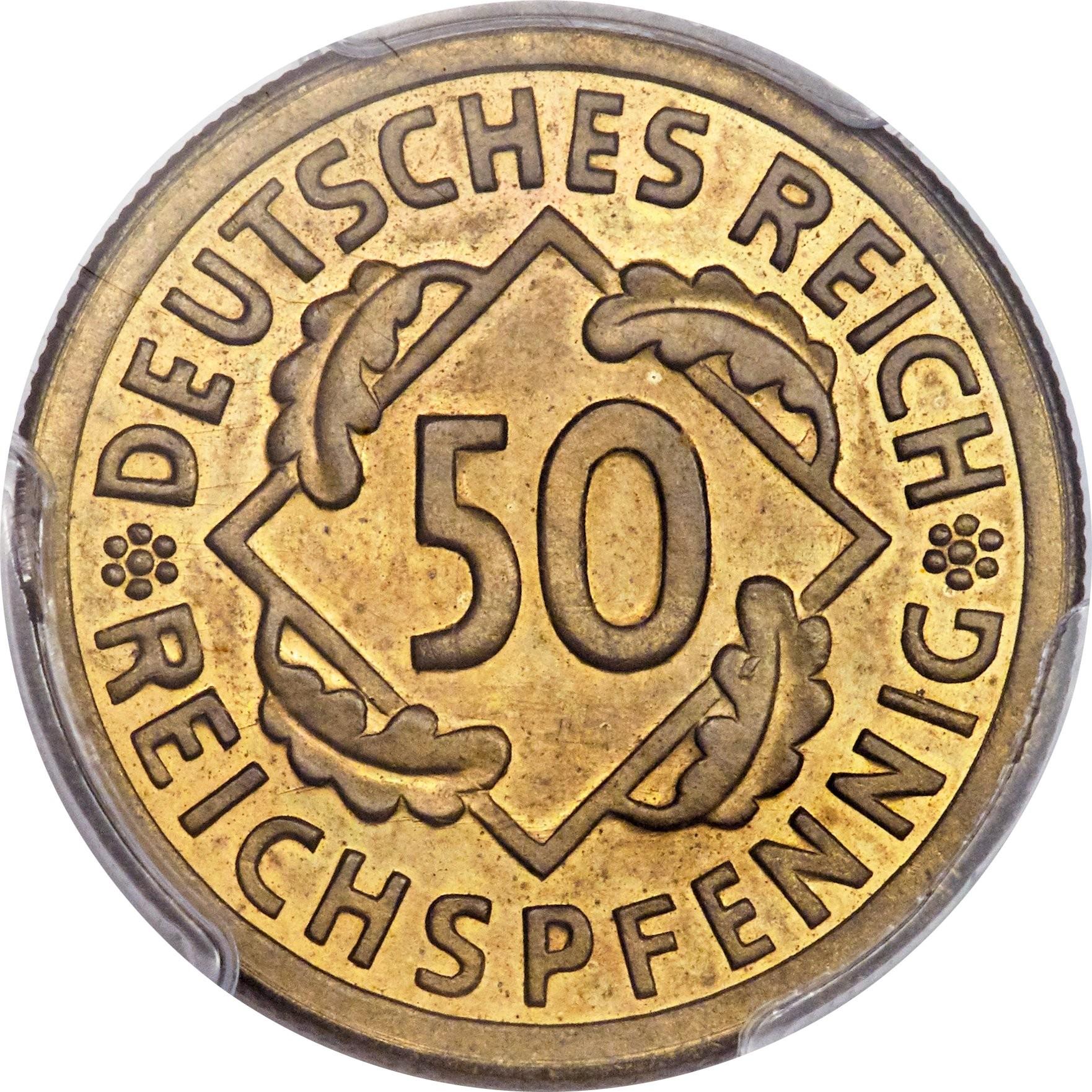 Germany 50 Reichspfennig (1924-1925)