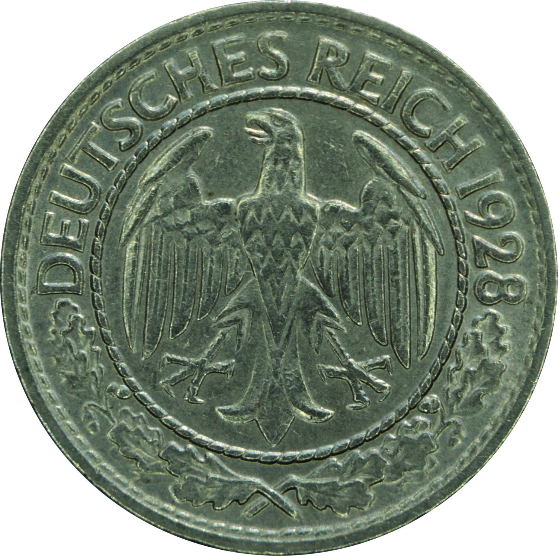 Germany 50 Reichspfennig (1927-1938)