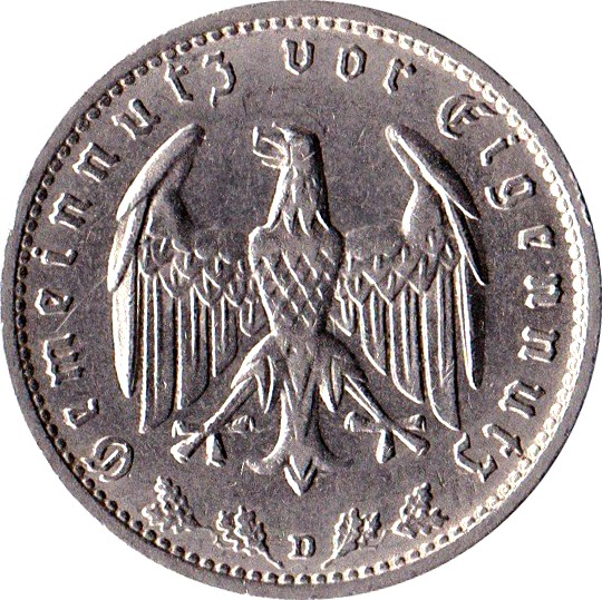 Germany 1 Reichsmark (1933-1939)