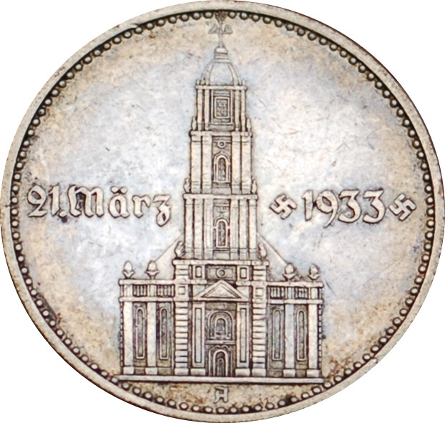 Germany 2 Reichsmark (1934 Potsdam Garrison Church)