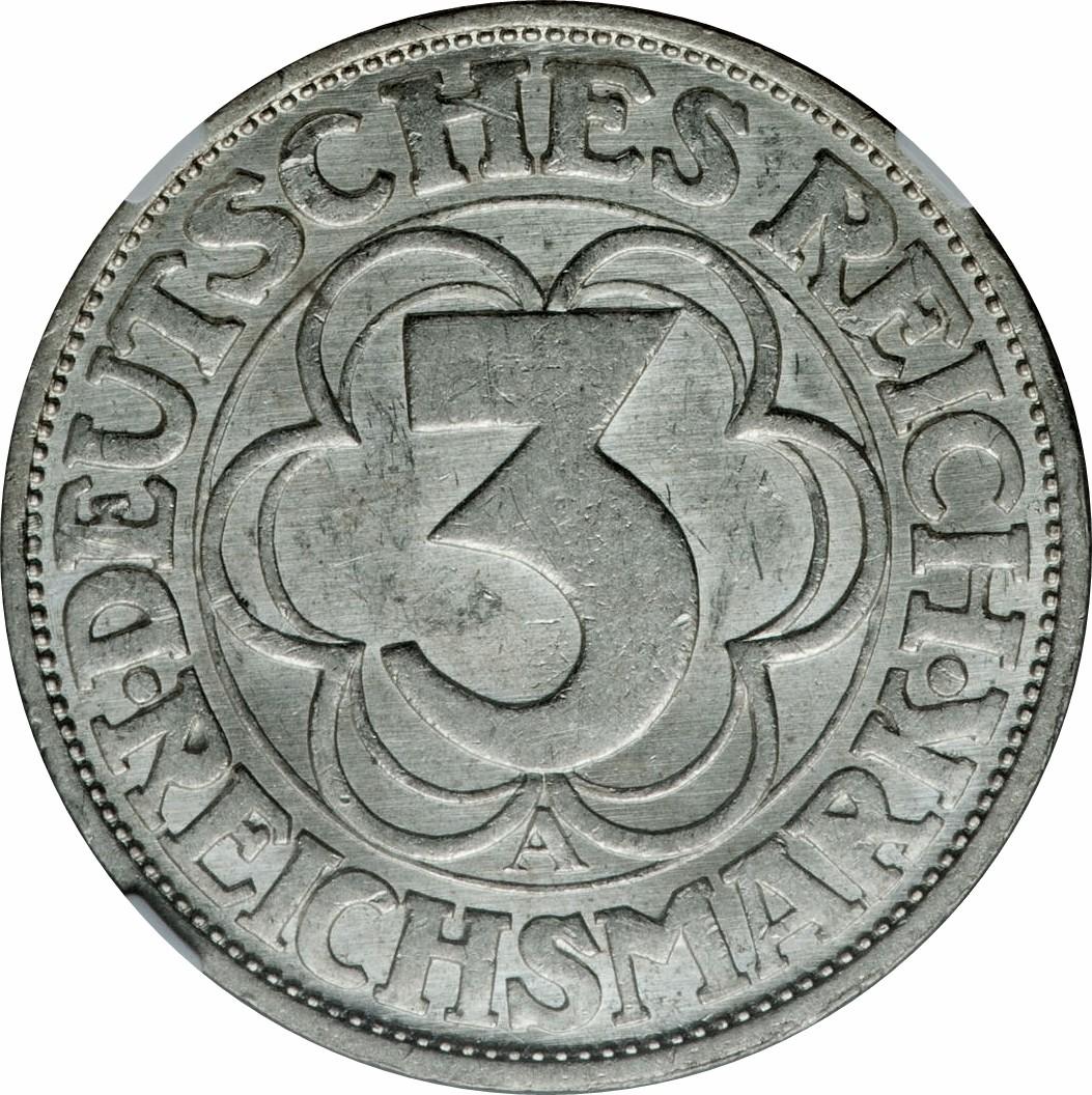 Germany 3 Reichsmark (1927 Nordhausen)