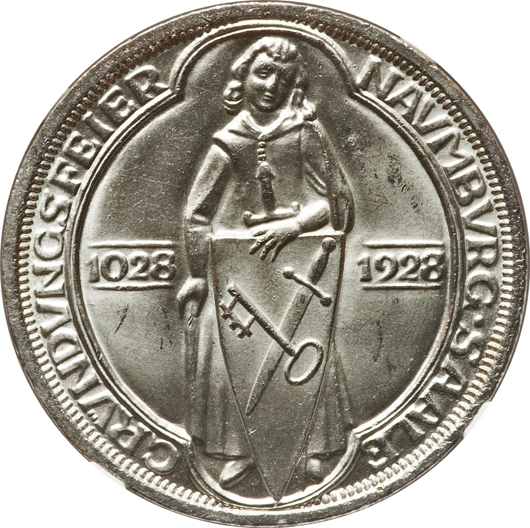 Germany 3 Reichsmark (1928 Naumburg)