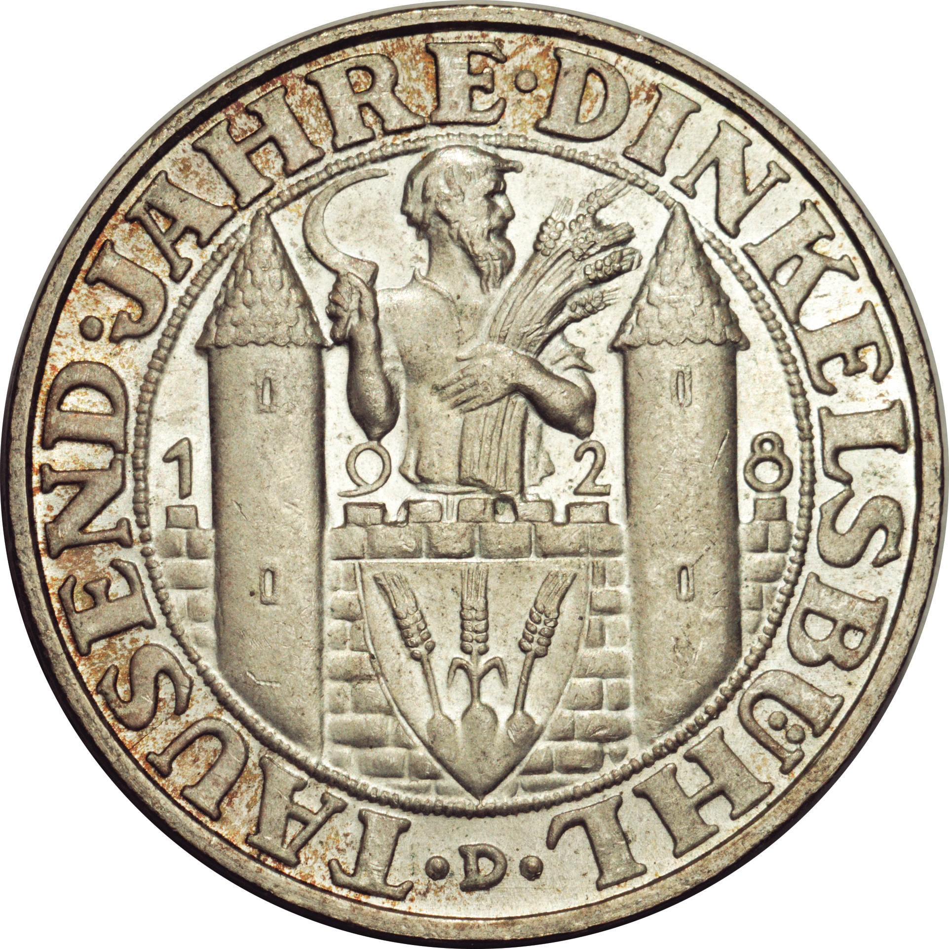 Germany 3 Reichsmark (1928 Dinkelsbühl)