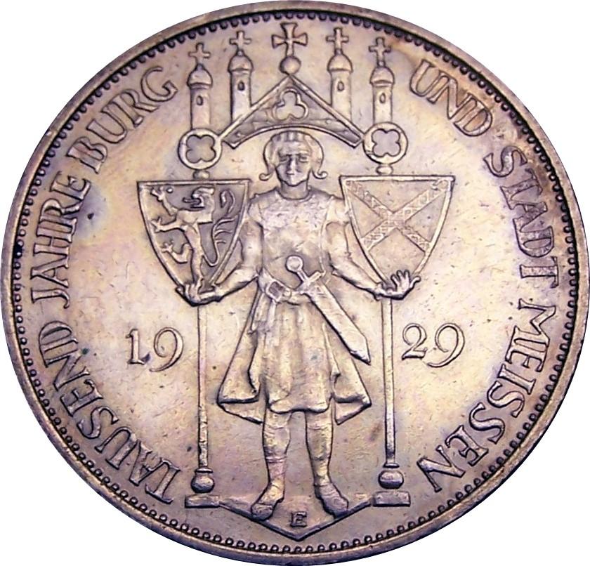 Germany 3 Reichsmark (1929 Meissen)