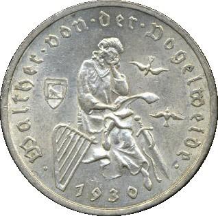 Germany 3 Reichsmark (1930 Walther von der Vogelweide)