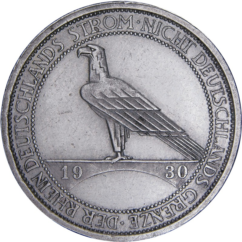 Germany 3 Reichsmark (1930 Liberation of Rhineland)