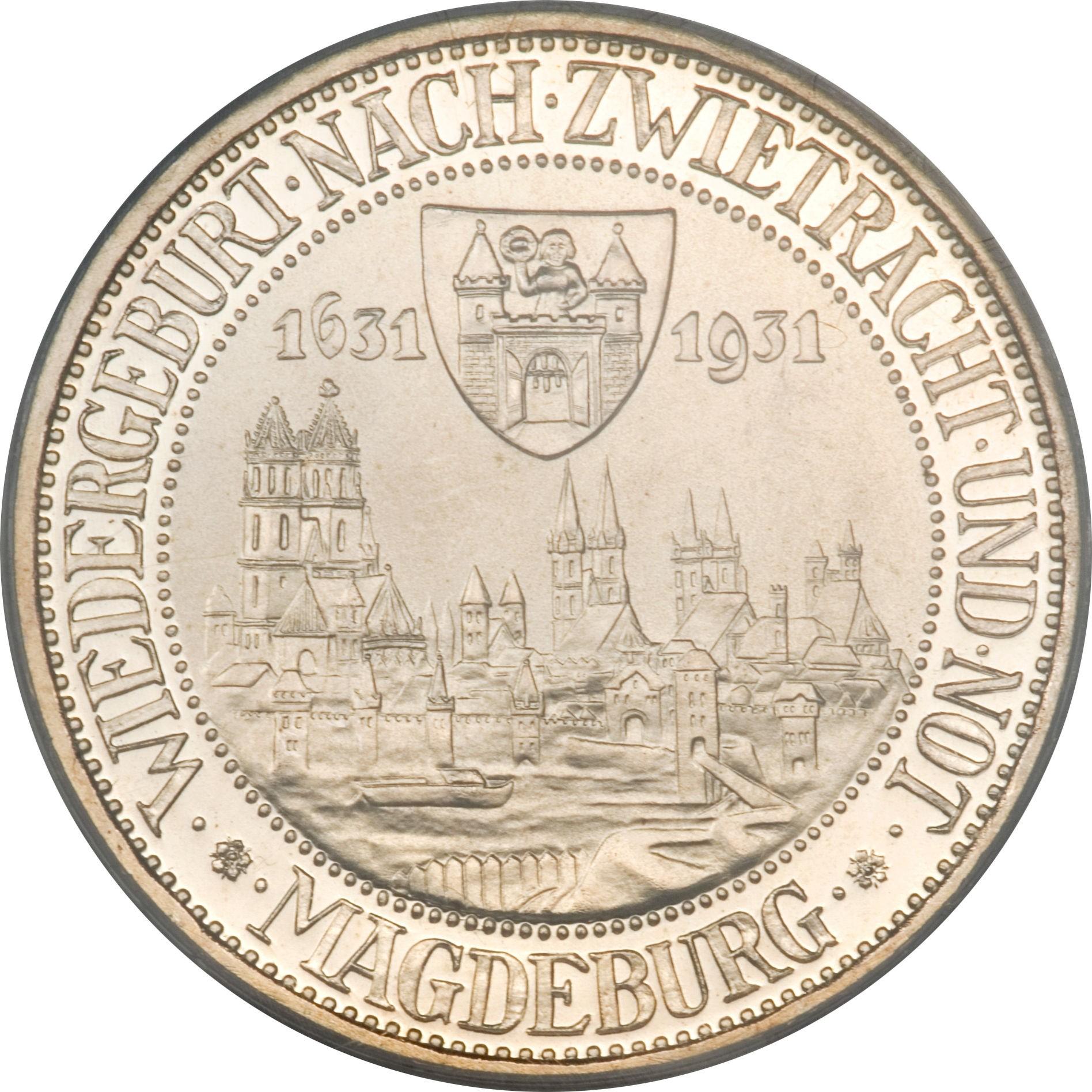 Germany 3 Reichsmark (1931 Magdeburg)