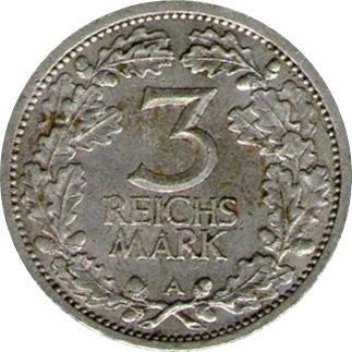 Germany 3 Reichsmark (1931-1933)