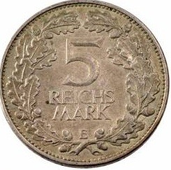 Germany 5 Reichsmark (1925 Rhineland)