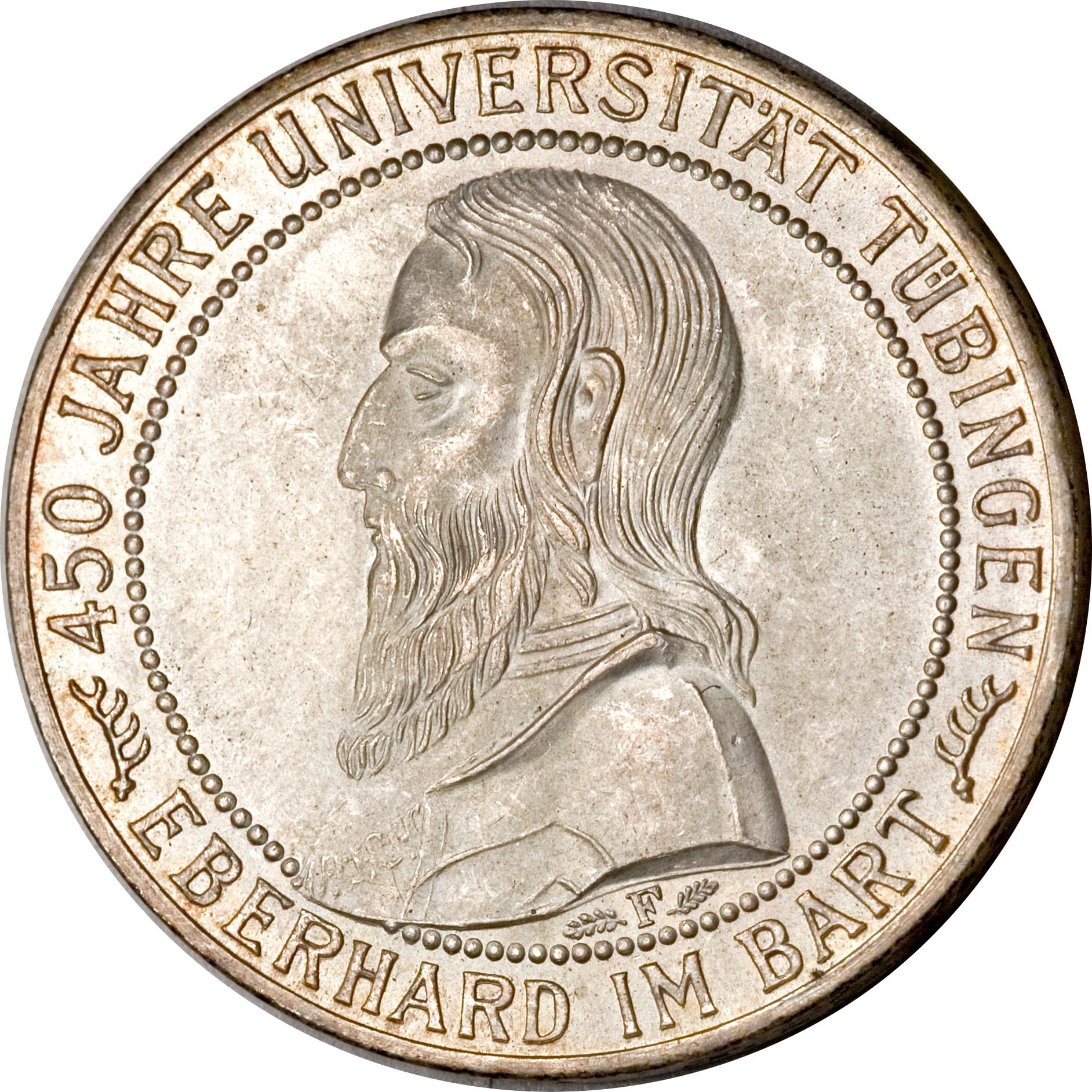 Germany 5 Reichsmark (1927 Tubingen University)