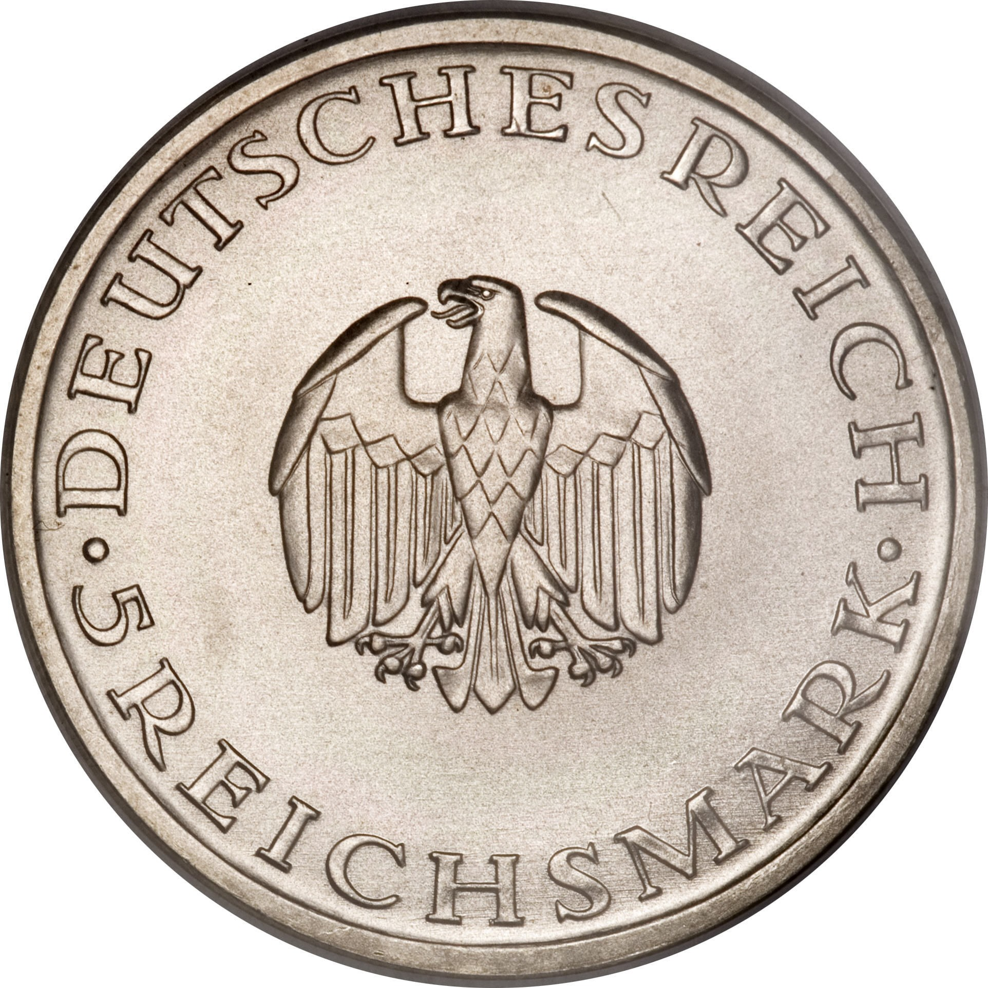Germany 5 Reichsmark (1929 Gotthold Lessing)