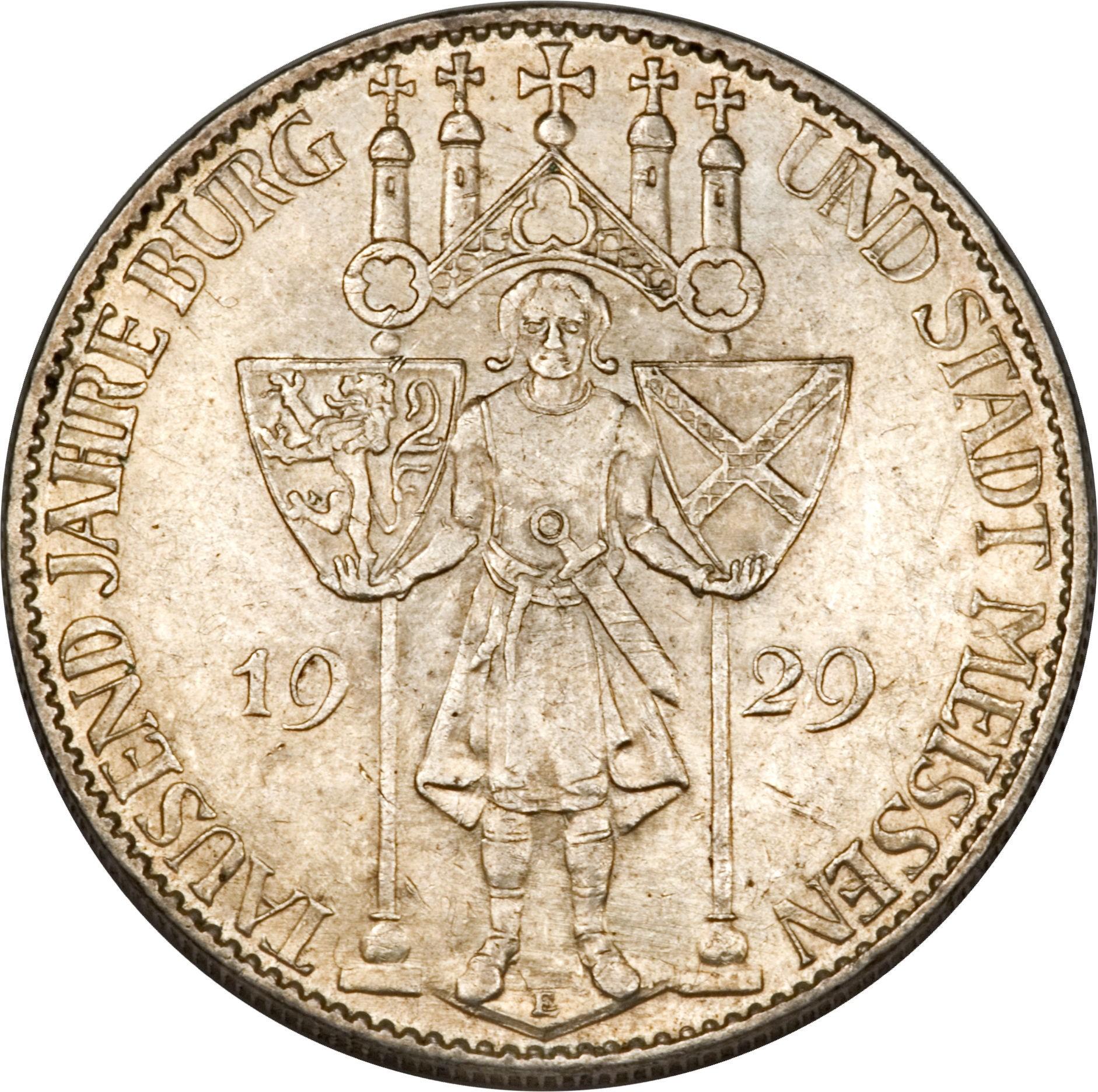 Germany 5 Reichsmark (1929 Meissen)