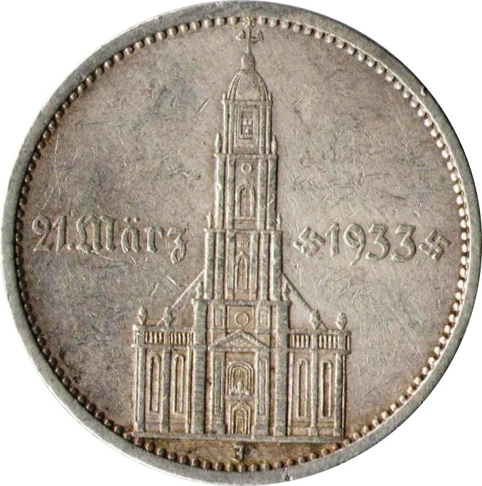 Germany 5 Reichsmark (1934 Potsdam Garrison Church)