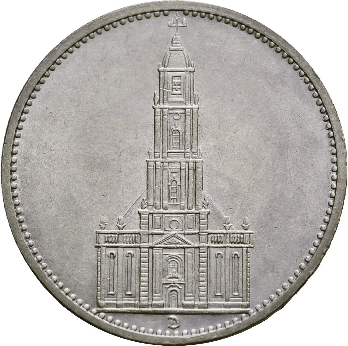 Germany 5 Reichsmark (1934-1935 Potsdam Garrison Church)