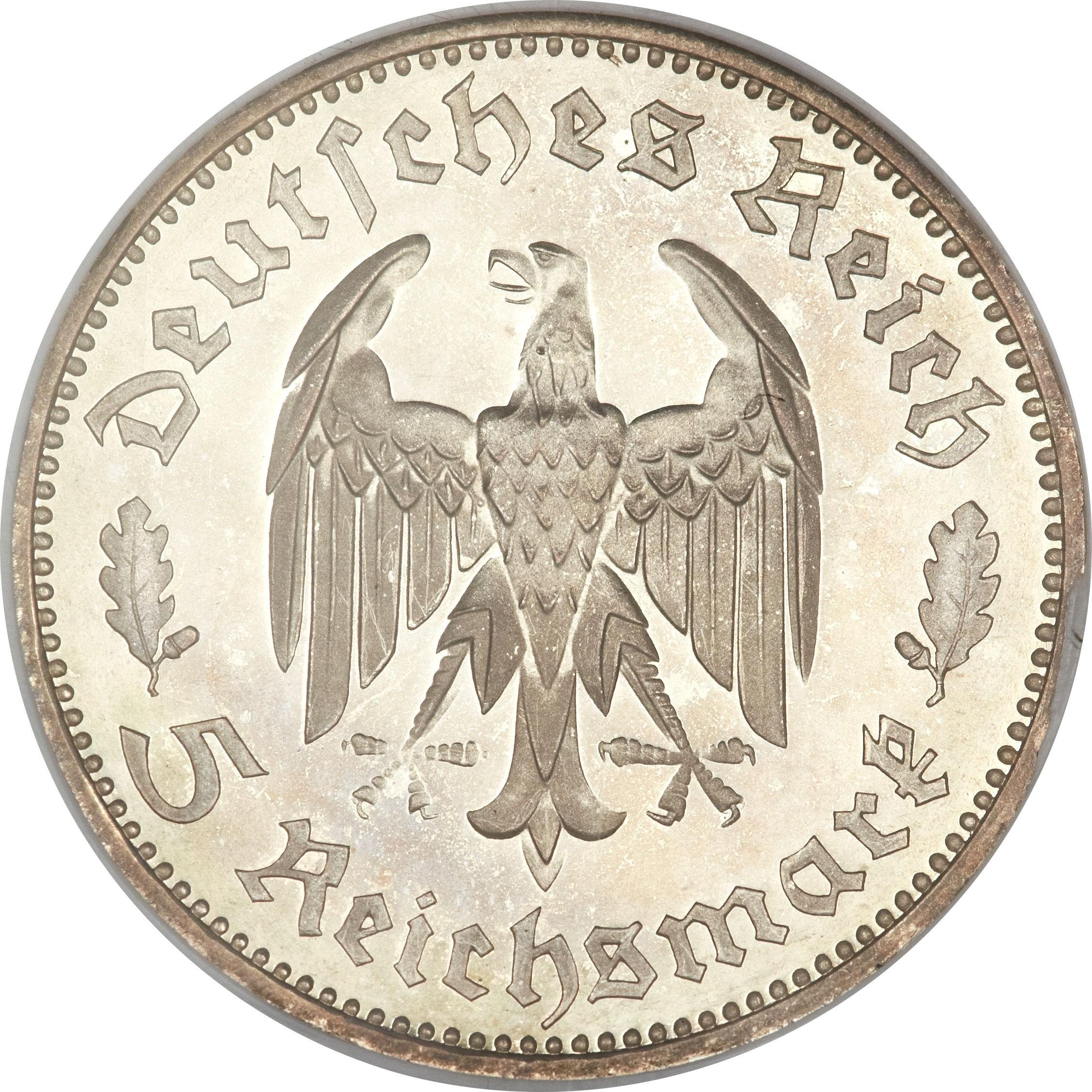 Germany 5 Reichsmark (1934 Friedrich Schiller)