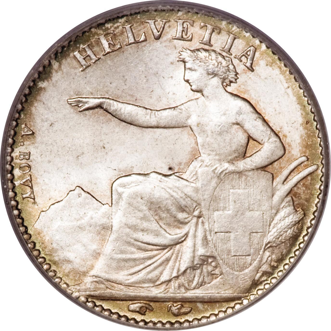 Switzerland ½ Franc (1850-1851)
