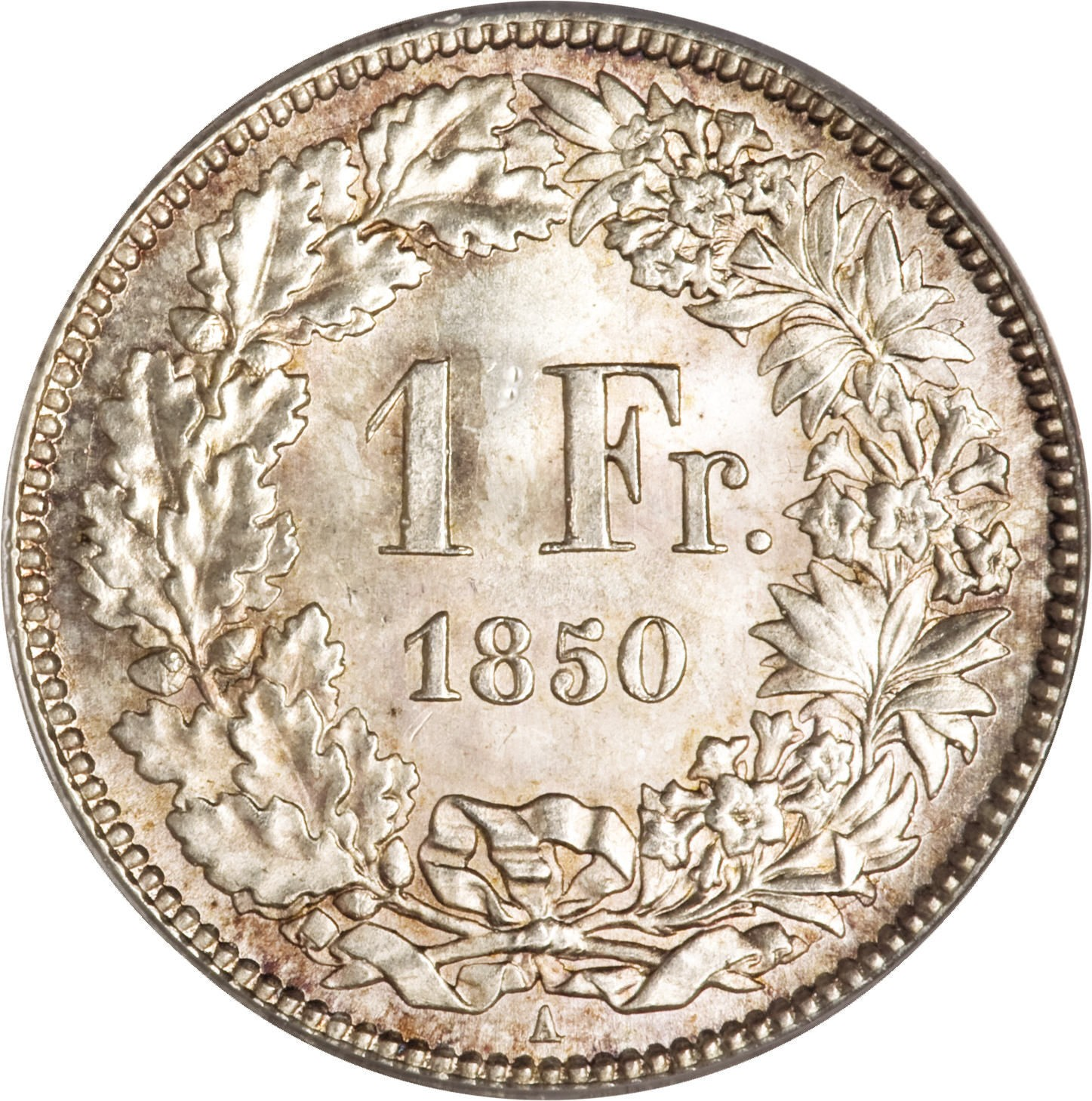 Switzerland 1 Franc (1850-1857)
