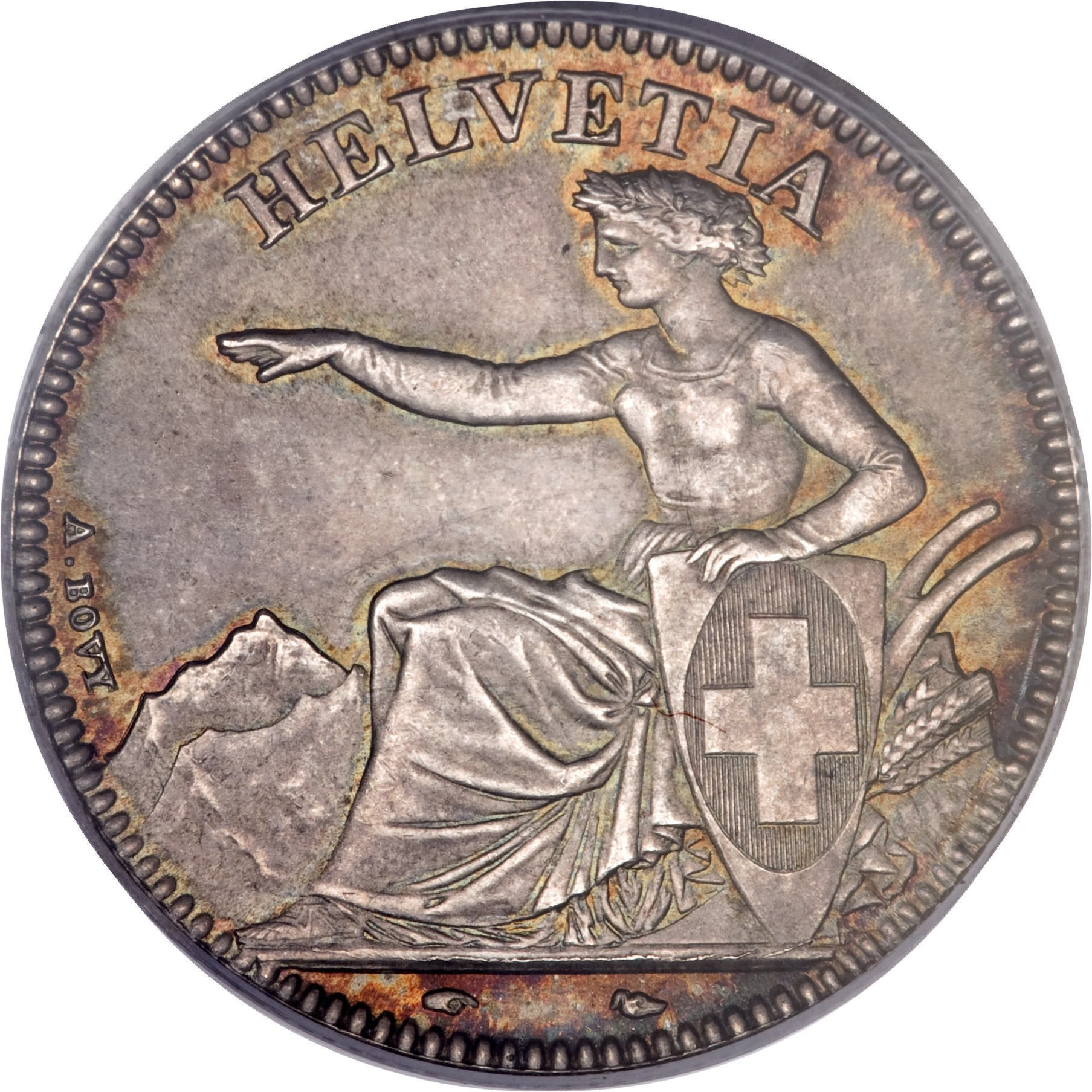 Switzerland 2 Francs (1850-1857)