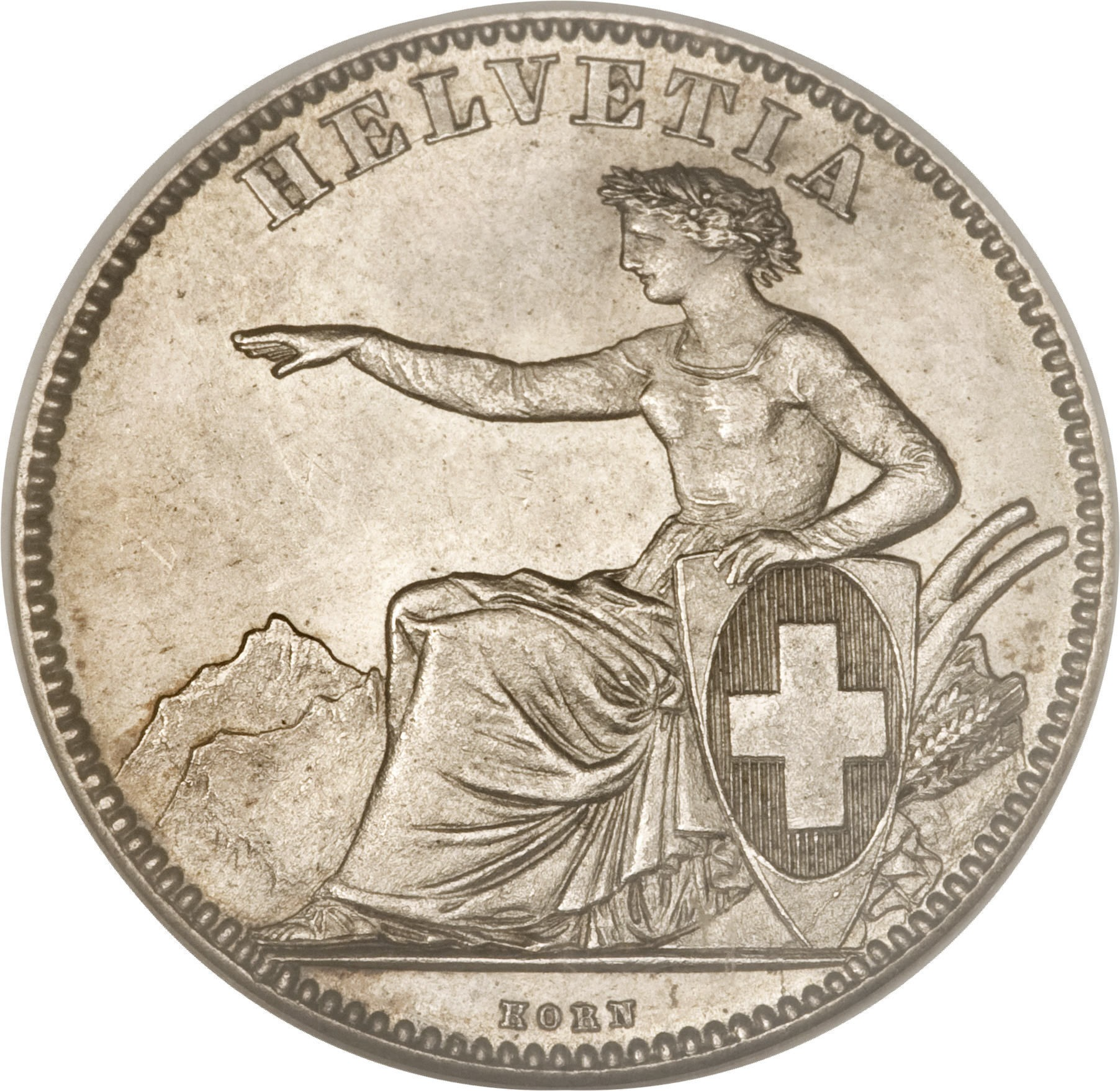 Switzerland 2 Francs (1860-1863)