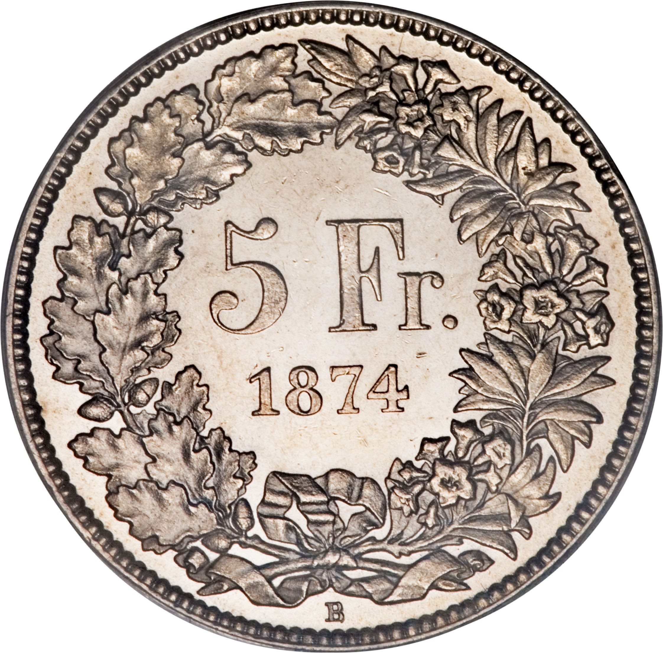 Switzerland 5 Francs (1850-1884)