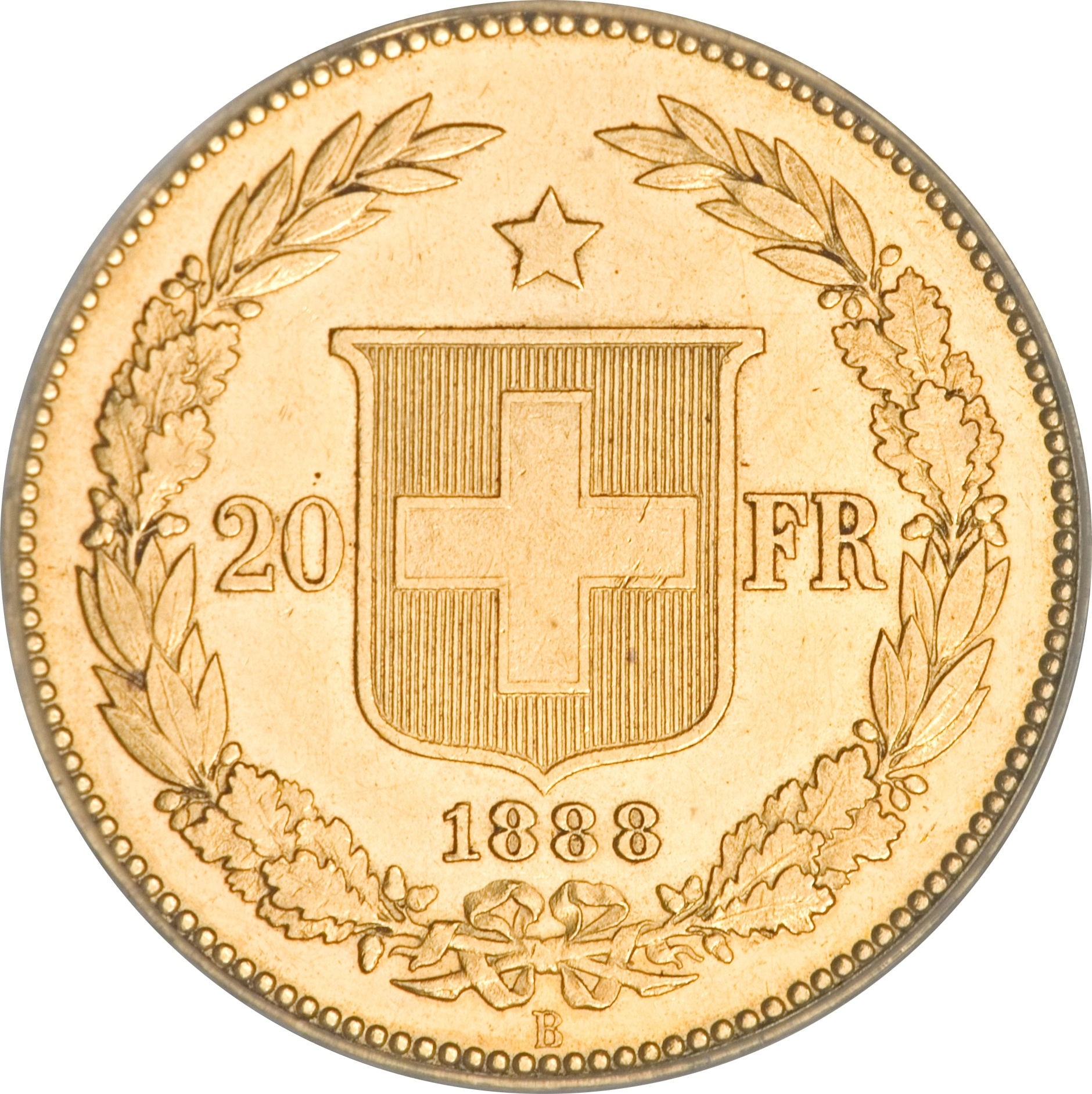Switzerland 20 Francs (1883-1896)