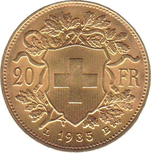 Switzerland 20 Francs (1897-1949)