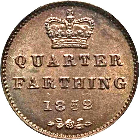 British ¼ Farthing (1839-1853 Victoria Colonial issues)
