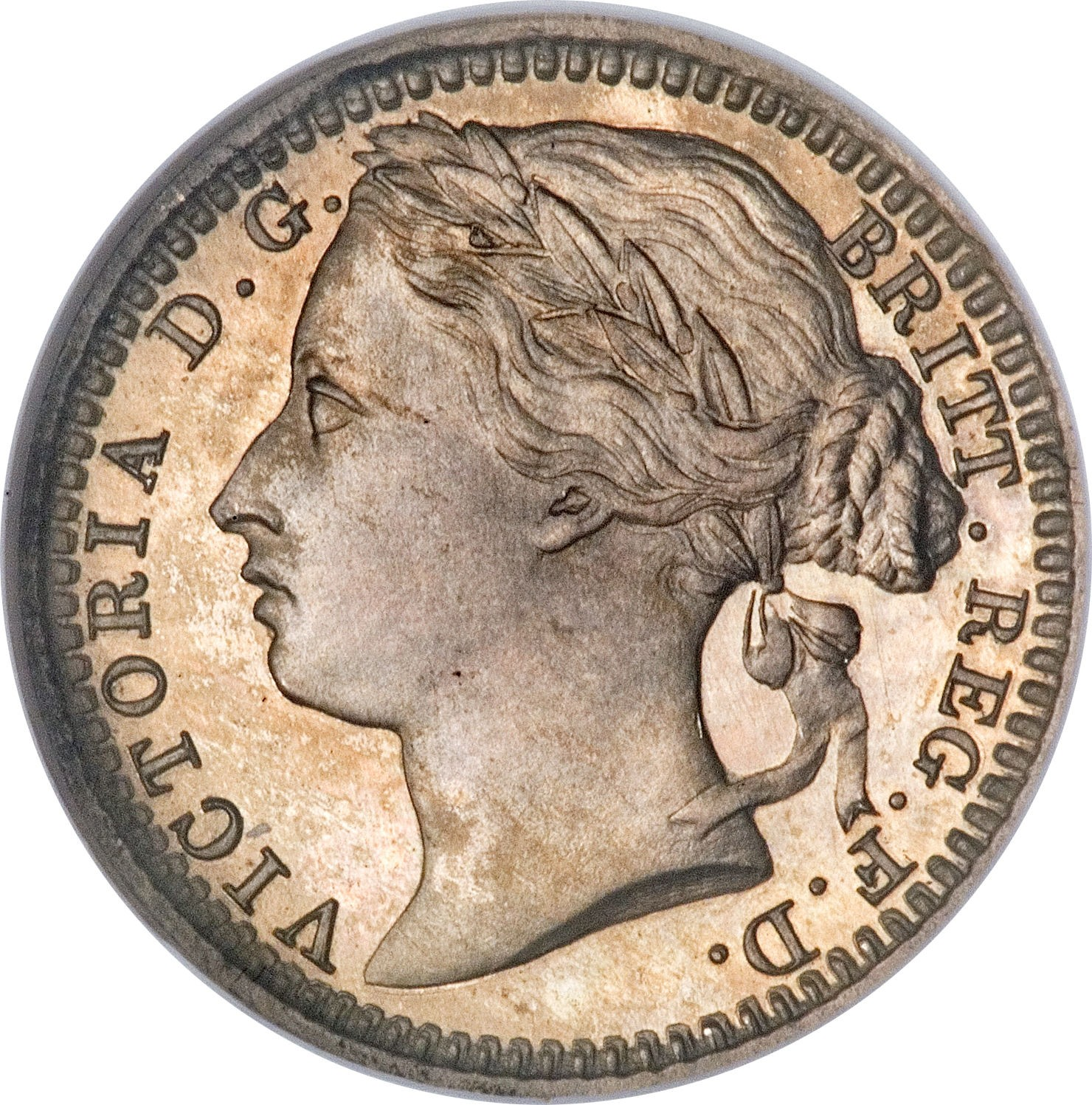 British ⅓ Farthing (1866-1888 Victoria Colonial issues)