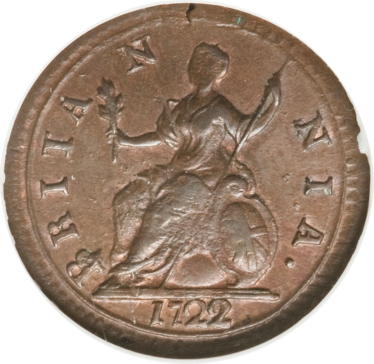 British 1 Farthing (1719-1724 George I)