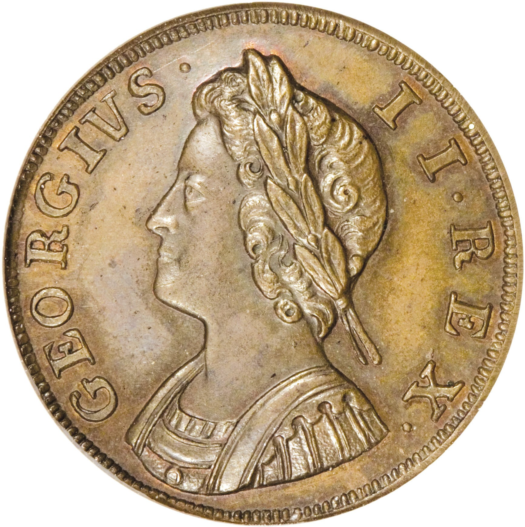 British 1 Farthing (1730-1739 George II Young Bust)