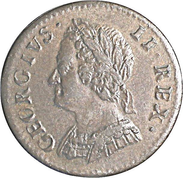 British 1 Farthing (1741-1754 George II Older Bust)