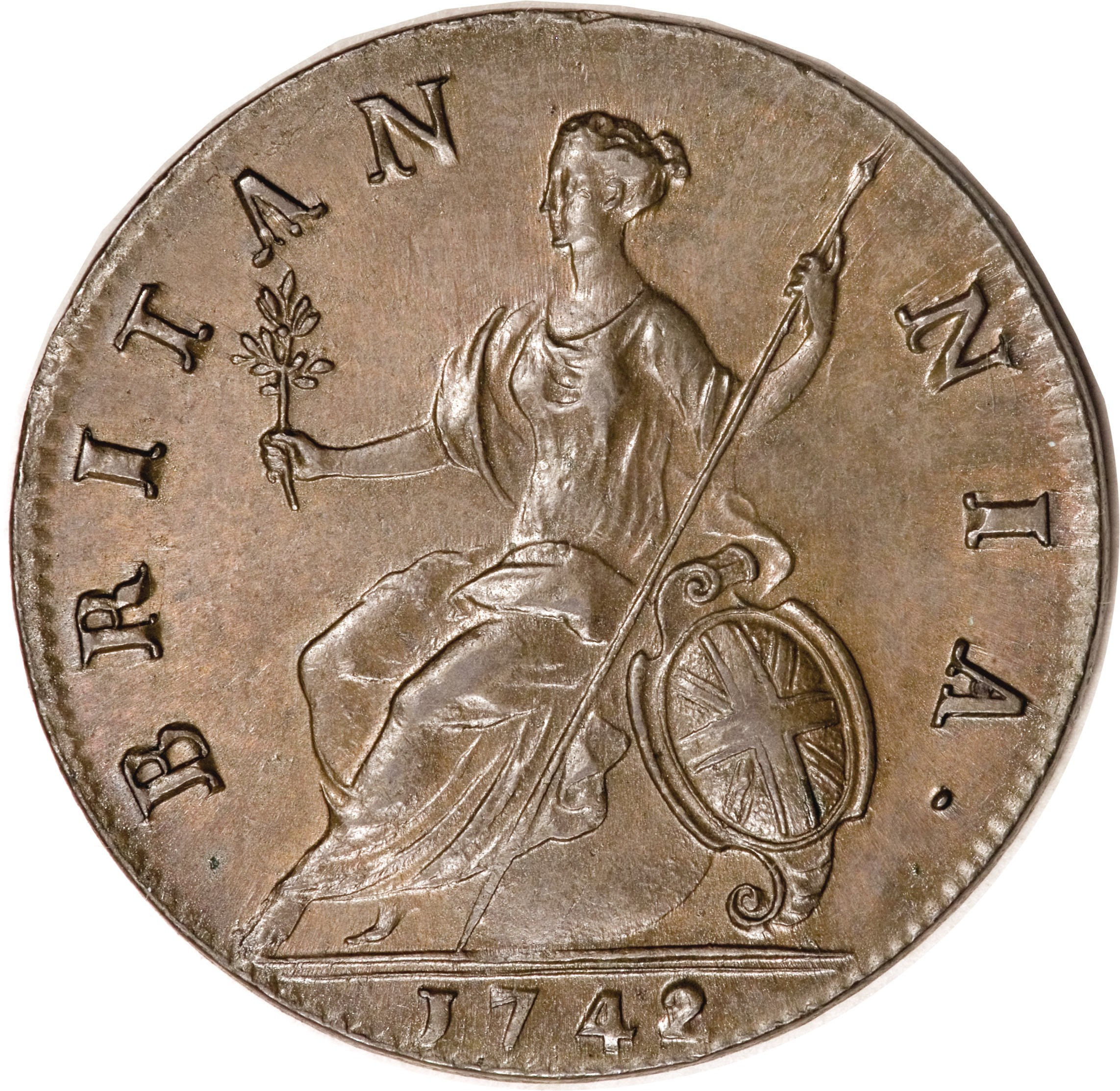 British ½ Penny (1740-1754 George II Old Bust)