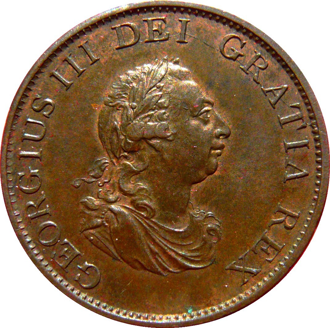 British ½ Penny (1799 George III)