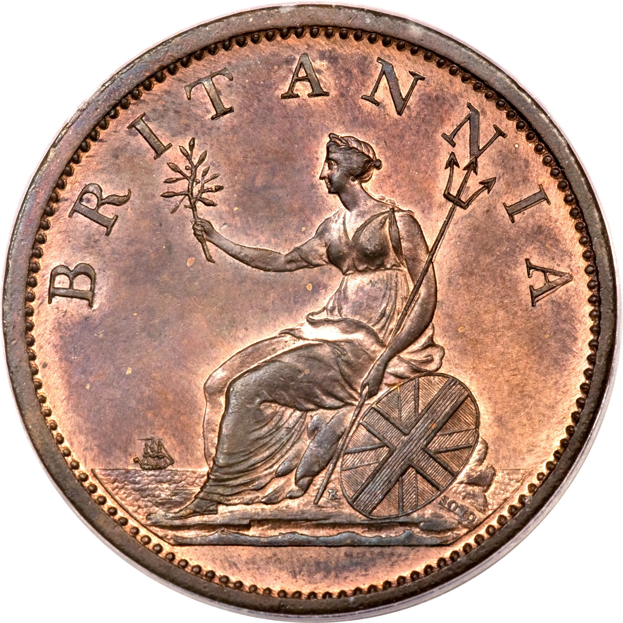 British ½ Penny (1806-1807 George III)