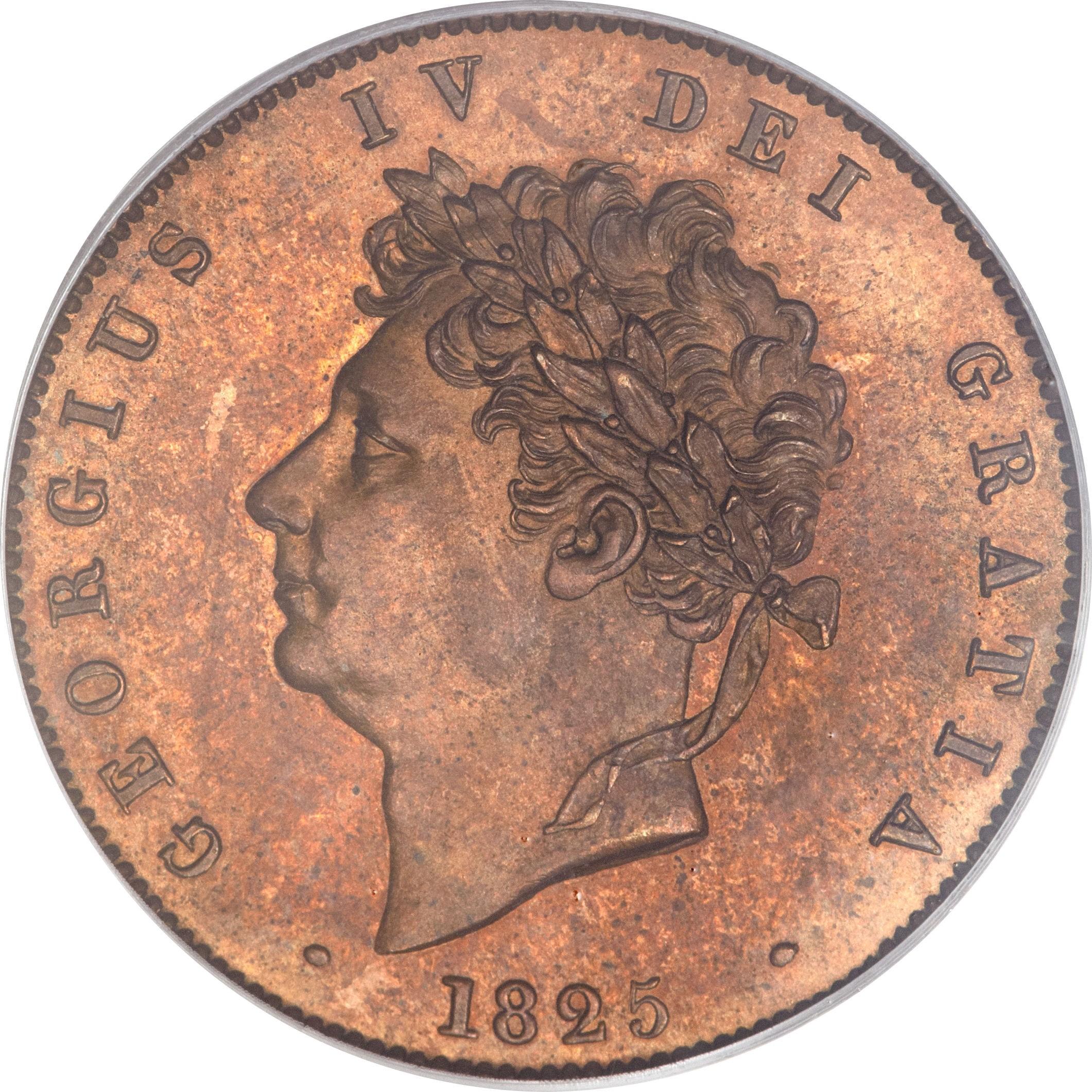British ½ Penny (1825-1827 George IV)