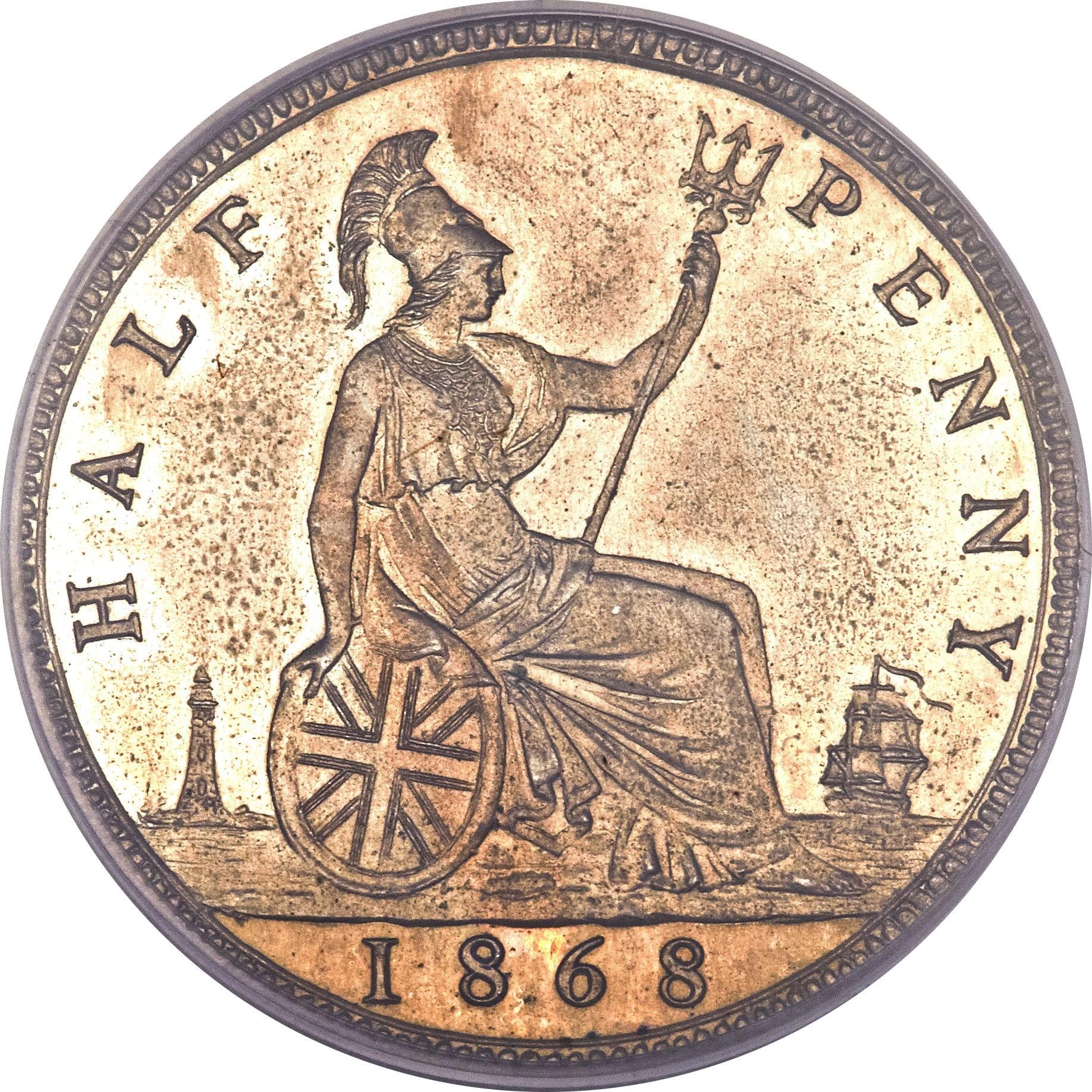British ½ Penny (1860-1874 Victoria)