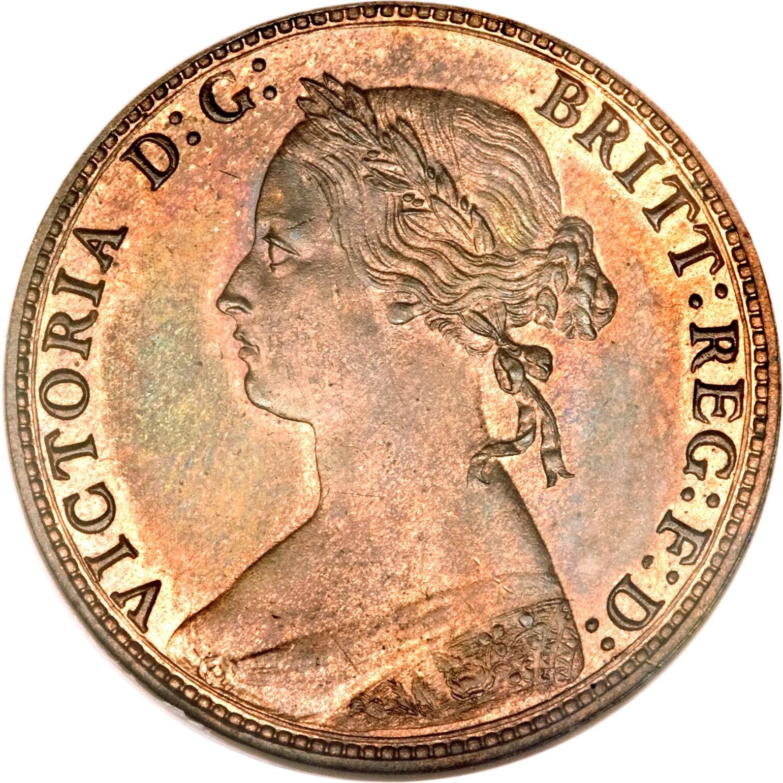 British ½ Penny (1874-1894 Victoria)