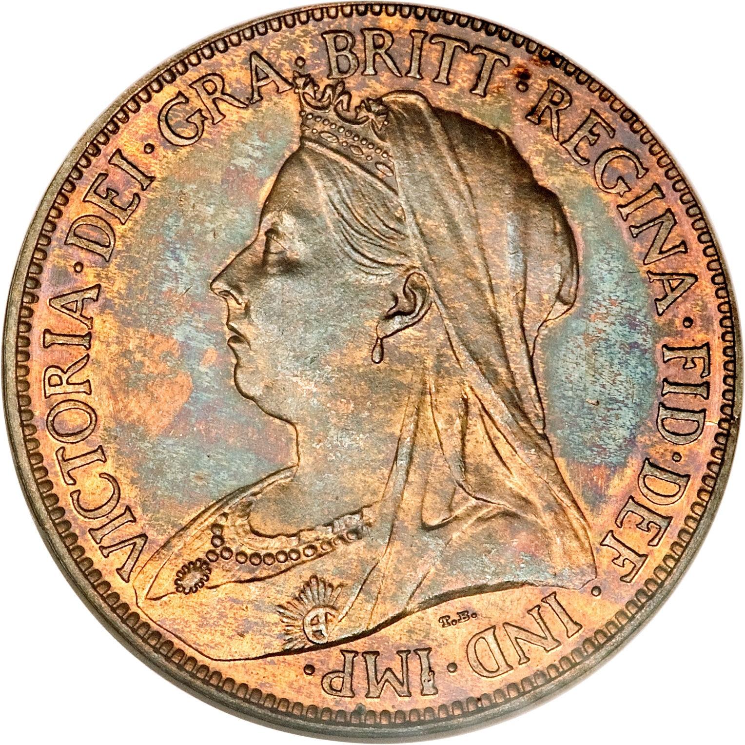 British ½ Penny (1895-1901 Victoria)