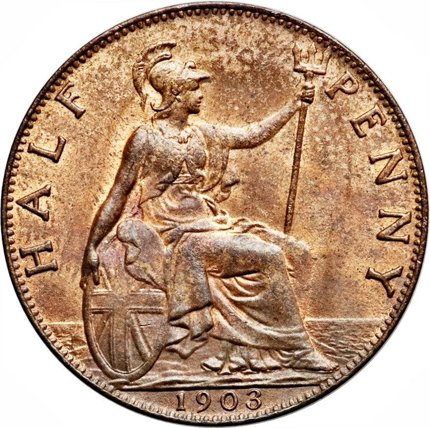 British ½ Penny (1902-1910 Edward VII)