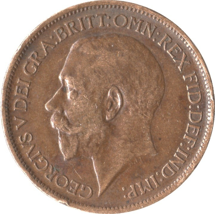 British ½ Penny (1911-1925 George V)