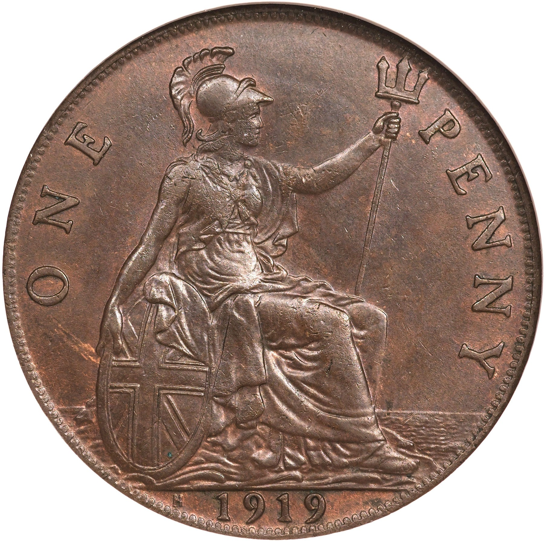 British 1 Penny (1911-1926 George V)