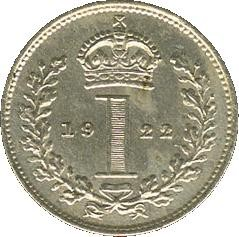 British 1 Penny (1921-1927 George V Maundy issue)