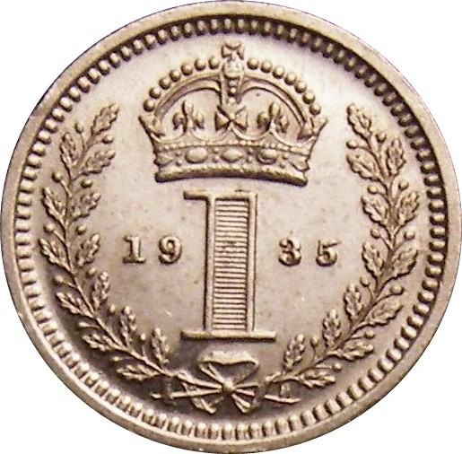 British 1 Penny (1928-1936 George V Maundy issue)