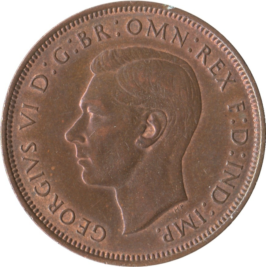 British 1 Penny (1937-1948 George VI)