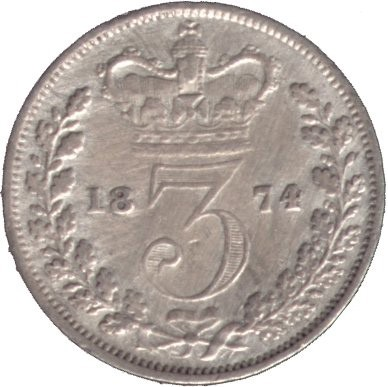 British 3 Pence (1838-1887 Victoria)