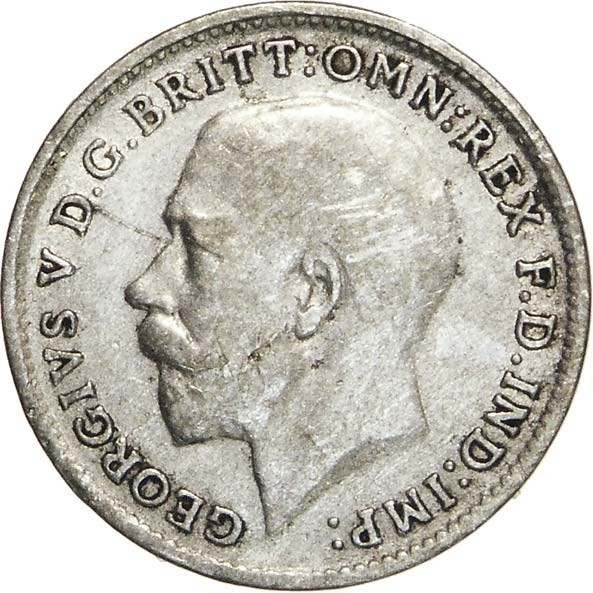 British 3 Pence (1920-1927 George V)